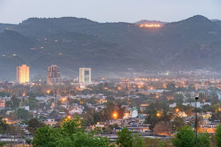 Vista panorâmica de Islamabad no Paquistão